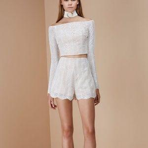 Keepsake Think Twice Long Sleeve Lace Crochet Top